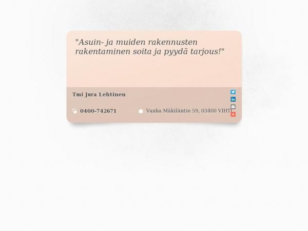 tmi-jura-lehtinen.rakentajalle.fi